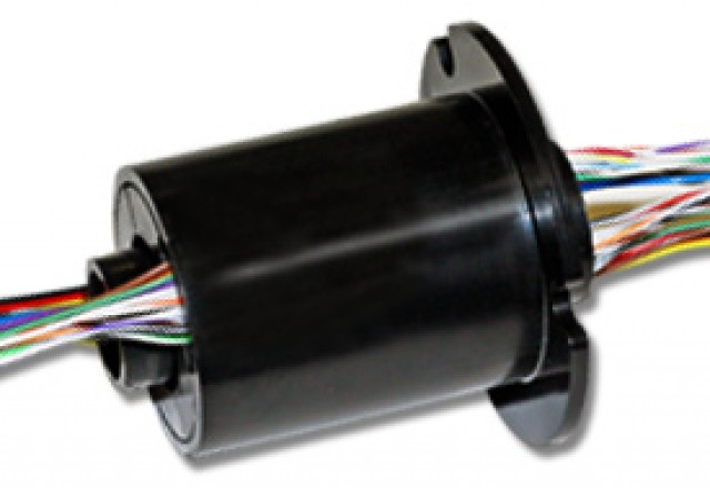 MOOG SRA-73683-12C 1/2 Inch 12 2-Amp Circuit Slip Ring with 48 Inch Leads and Standard Flange (Series Image)