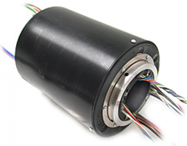 MOOG SRA-73683-6-NF 1/2 Inch 6 2-Amp Circuit Slip Ring with 12 Inch Leads and No Flange (Item Group Image)