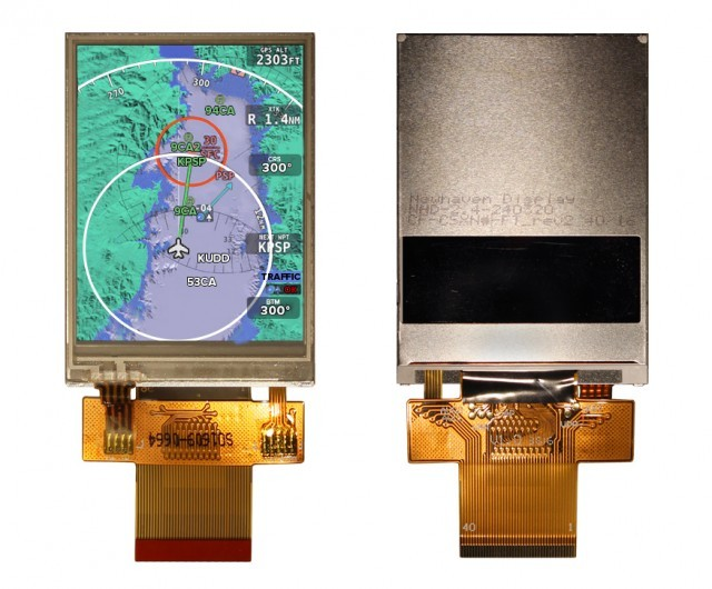 Newhaven NHD-2.4-240320SF-CTXL#-FTN1 Resistive Touchscreen: 240x320 Pixels, 2.8V LCD, 8-bit/16-bit Parallel , White Backlight, Transmissive, 6:00, -20C to +70C, FFC Connection, 4-wire Touch, RoHS (Item Group Image)